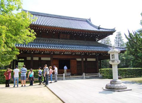 This is a photo of a Buddha hall in the precincts of Jotenji Temple in Fukuoka City, Japan. This image is also linked to the Japan Live Online Tours page.