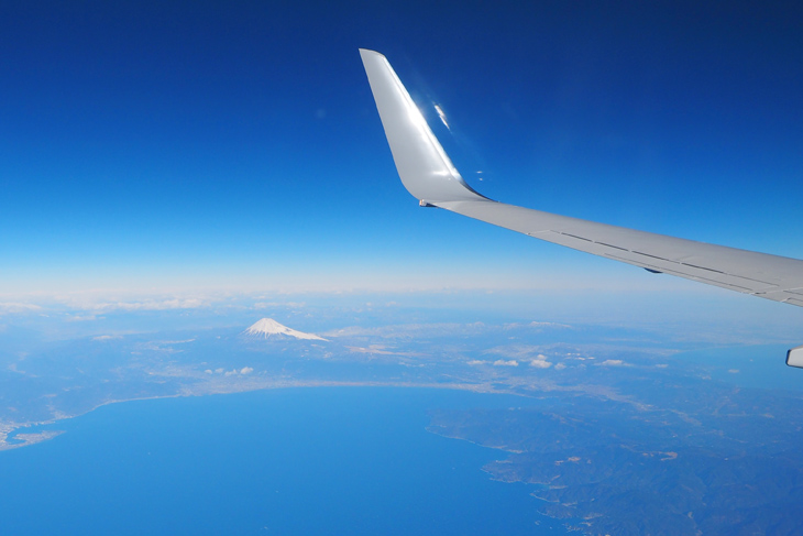 The great view of Mt. Fuji from the window of the plane is one of the appeal of travel which Trip Insight believes.